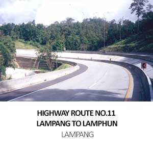 HIGHWAY ROUTE NO.11<BR> LAMPANG TO LAMPHUN, LAMPANG
