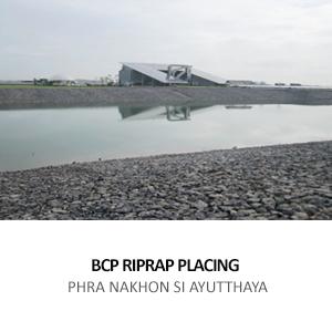 BANGCHAK PETROLEUM – RIPRAP PLACING WORK <br>BANG PA-IN, PHRA NAKHON SI AYUTTHAYA