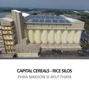 RICE SILOS FOR CAPITAL CEREALS <br> BANGSAI, PHRA NAKHON SI AYUTTHAYA