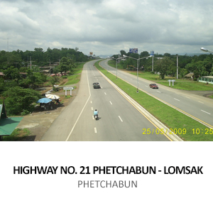 HIGHWAY ROUTE NO. 21 PHETCHABUN &#8211; LOMSAK SECTION 1 <BR>PHETCHABUN