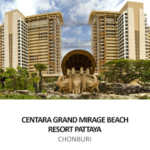 CENTRAL PLAZA HOTEL &#8211; CENTARAGRAND MIRAGE BEACH RESORT PATTAYA <BR>CHON BURI