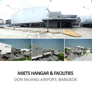 MJETS HANGAR &#038; FACILITIES <br>DON MUANG AIRPORT, BANGKOK