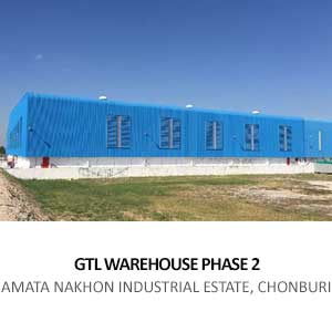 GTL WAREHOUSE EXTENSION <BR>AMATA NAKORN INDUSTRIAL ESTATE CHONBURI