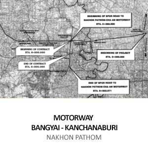 MOTORWAY BANGYAI &#8211; KANCHANABURI KM.1+119.007 TO  KM.5+000.000 LT. AND KM.1+225.000 TO KM.5+000.000 RT. (SPUR LINE)  <BR>NAKHON PATHOM