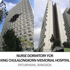 NURSE DORMITORY FOR KING CHULALONGKORN MEMORIAL HOSPITAL, <BR>PATUMWAN, BANGKOK