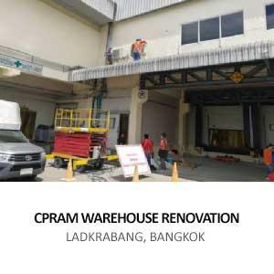 CPRAM WAREHOUSE RENOVATION <BR>LADKRABANG, BANGKOK