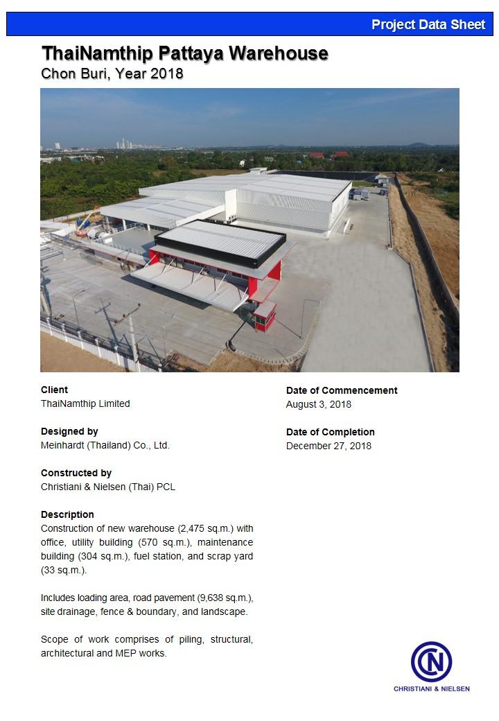 ThaiNamthip Pattaya Warehouse