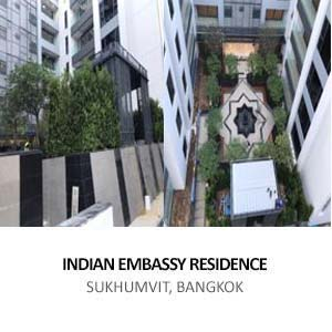 CONSTRUCTION OF INDIAN EMBASSY RESIDENCE AND RESIDENCE COMPLEX