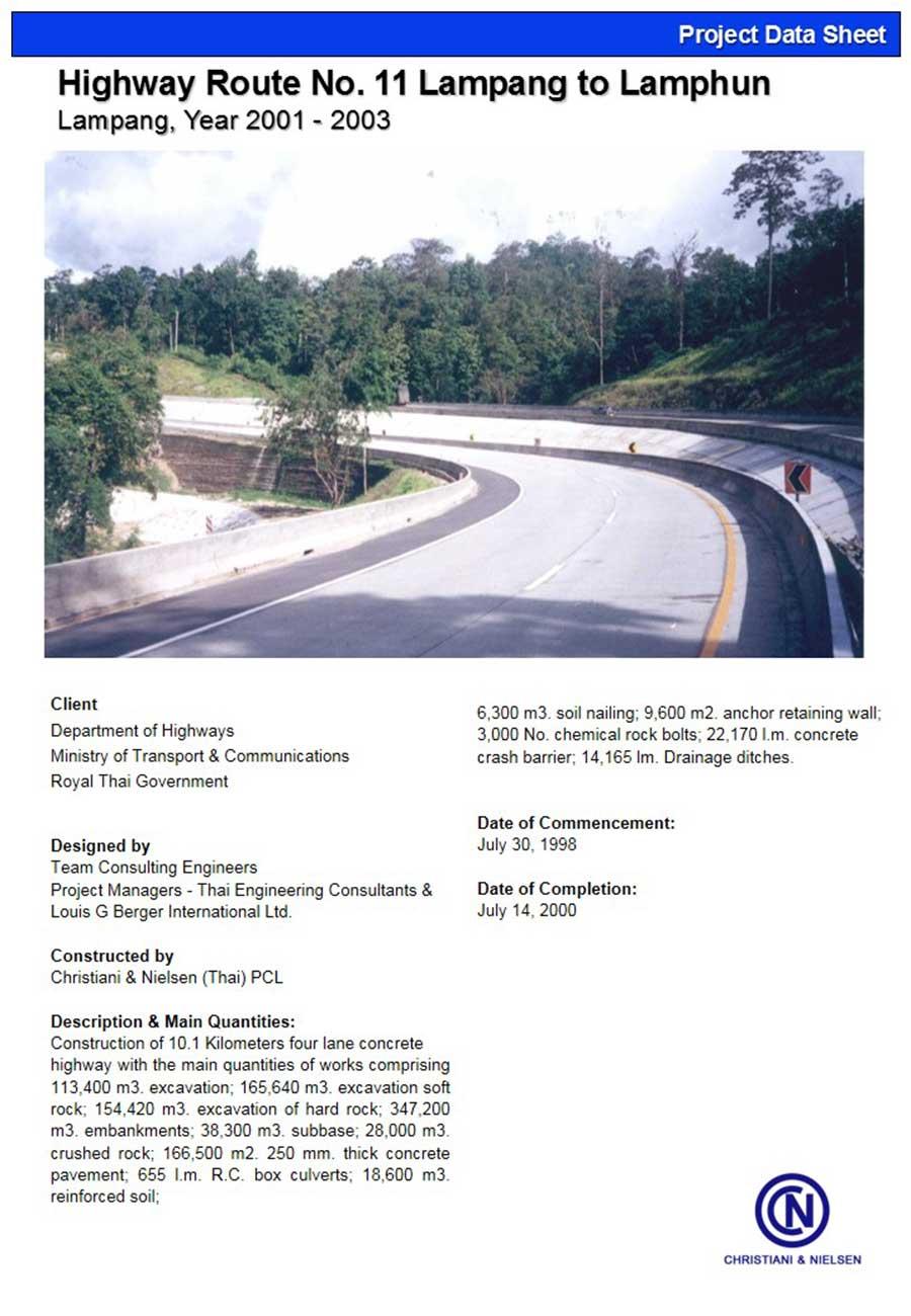 Highway-Route-No–11-Lampang-to-Lamphun
